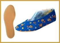 Kidschuh aus Baumwolle kornblau