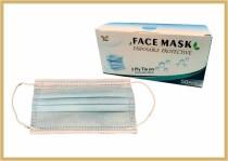 Mund und Nasenmaske VPE/50 Stück, weiss/hellblau VPE/50 Stück