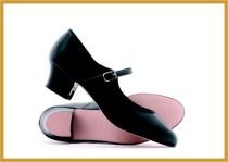 Charakter Buckle Shoe schwarz