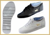 Rock´n Roll Schuh mit Querrille schwarz