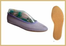 Gymnastikschuh Baumwolle farbig flieder