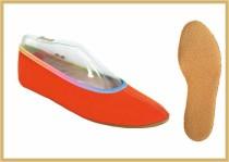Gymnastikschuh Baumwolle farbig orange