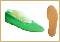 Gymnastikschuh Baumwolle farbig smaragd