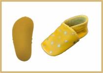 Krabbelschuhe Stern gelb