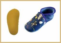 Krabbelschuhe Tiere kornblau