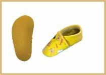 Krabbelschuhe Tiere gelb