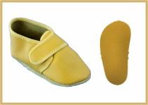 Krabbelschuhe Klettverschluss uni gelb