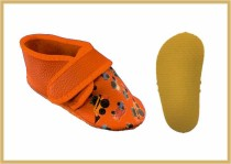 Krabbelschuhe Klett/Trucks orange