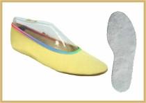 Gymnastikschuh Baumwolle farbig gelb