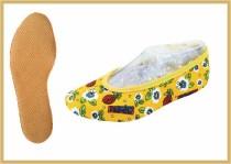Kidschuh aus Baumwolle gelb