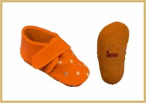 Krabbelschuhe Klett/Stern orange