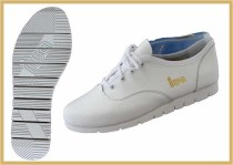 Rock´n Roll Schuh mit Querrille weiß